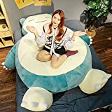Imakoyou Snorlax Plush Giant Unstuffed Snorlax Bean Bag Chair Large Snorlax Pillow Animal Cover with Zipper for Girlfriend Birthday Snorlax Bed (150cm/59inch)