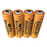 18650 Batería recargable de iones de litio 3.7V 9900mAh Gran capacidad Seguro Práctico medio ambiente Para linterna LED, iluminación de emergencia, dispositivos electrónicos, etc. (Orange)