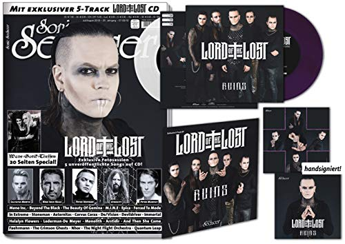 Sonic Seducer 07-08 2018 LIMITED EDITION + 7 -Vinylsingle in VIOLETT (199 Exemplare) von Lord Of The Lost + Titelstory Lord Of The Lost + exclusive 5-Track EP Ruins von Lord Of The Lost