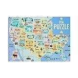 Talking Tables Rompecabezas y póster del Mapa de los 50 Estados de los Estados Unidos Azul de 1000 Piezas, Color Puzzle (PUZZ-Map-USA)