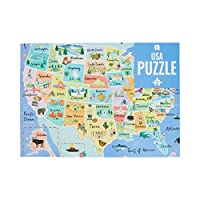 Test your geography knowledge with Talking Tables beautifully illustrated 1000-piece Blue USA 50 States Map Jigsaw Puzzle & Poster. Featuring landmarks from across America! OCCASION - Perfect for relaxing on a rainy day, in lockdown or as a birthday ...