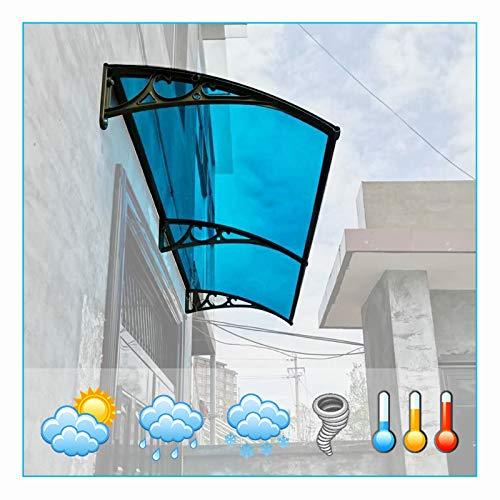 LIANGLIANG Vordach Haustür Überdachung, Sicher Und Winddicht Frostschutzmittel Flammhemmend Reinigen Sie Sich, Wenn Regnet, Benutzt Für Balkon Eingang Plakatwand (Color : Blue, Size : 80x60cm)