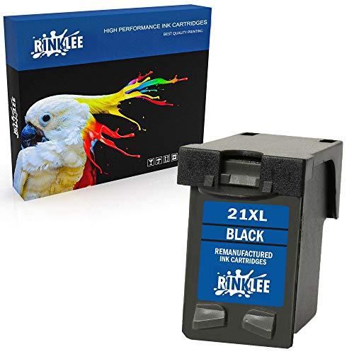 RINKLEE Remanufacturado para HP 21XL Cartucho de Tinta Compatible con HP Deskjet F2120 F2180 F2280 F335 F375 F380 F390 F4180 F4190 3940 D1460 D2360 D2460 Officejet 4315 4355 PSC 1410 1415 | Negro