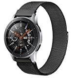 ZGCE Armband Kompatibel mit Samsung Galaxy Watch 46mm / Galaxy Watch 3 45mm, 22mm MetallArmband für Samsung Gear S3 Frontier/Gear S3 Classic (Schwarz)