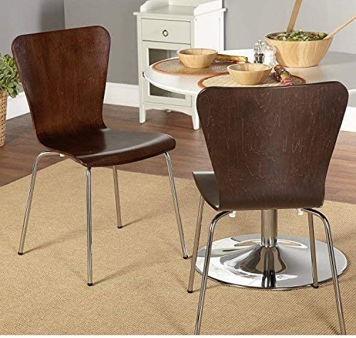 Branded goods Simple Living Pisa Bentwood Stackable Chairs Dining Max 68% OFF Kitchen Set