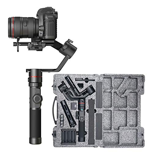 FeiyuTech Official AK2000 Gimbal 3-Axis Handheld Stabilizer for DSLR/Mirrorless Camera for Sony a9 a7III a7RIII Canon M50 EOS 6D Mark II EOS 200D II Panasonic GH4 GH5 Nikon Payload 2.8KG/6.17lb
