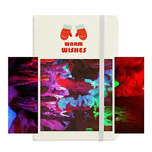 Coloured Karst Cave Photography Christmas Glove Notebook Journal Diary