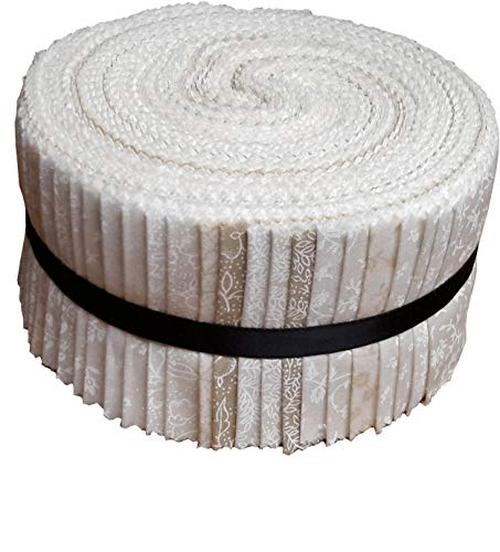 Best of Tone on Tone Neutral Blenders Jelly Roll 40 Precut 2.5-inch Quilting Fabric Strips