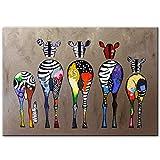 SORMEY Rahmenlose Malerei Abstrakte Zebra Leinwand Kunst Gemälde An Der Wand Bunte Tiere Kunstdrucke Afrikanische Tiere Kunst Bilder Für Wohnzimmer Wand