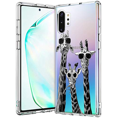 BICOL Galaxy Note 10 Plus Case Clear with Design for Girls Women,12ft Drop Tested,Military Grade Shockproof,Slim Fit Protective Phone Case for Samsung Galaxy Note 10 Plus Cool Giraffe