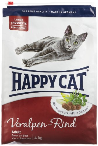 Happy Cat Katzenfutter 70039 Adult Voralpen-Rind 4 kg