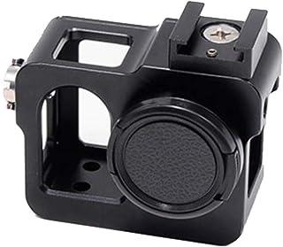 Flycoo frame voor SJCAM SJ5000/SJ5000 Plus/SJ5000 WiFi / J5000 X actioncamera accessoires beschermhoes Shell kooi frame aluminium legering, zwart.