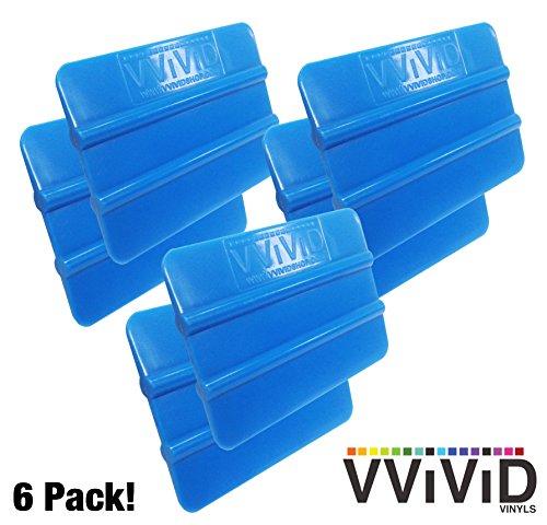 VViViD - Rasqueta de vinilo, color azul, Paquete de 6