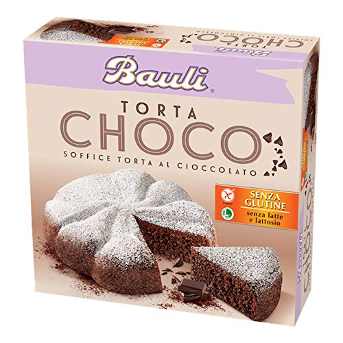 TORTA BAULI CHOCO 420 GR SOFFICE CIOCCOLATO CACAO SENZA GLUTINE E SENZA LATTOSIO