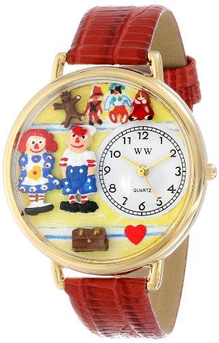 ラガディ・アンとアンディ 紺レザー ゴールドフレーム時計 #G0220006