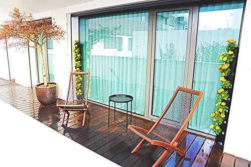 minigarden Corner Column para 8 Plantas, Jardines en los Rincones de tu Casa, Modular y Extensible, Incluye el Kit de Riego por Goteo, Colocar en el Suelo o Colgar en la Pared (Negro)