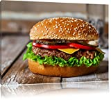 Burger Hamburger Cheesburger Käse Fast Food Format: 60x40