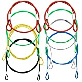 8 Pack Safety Stainless Steel Tethers,Colorful Coated Security Tether Lanyard Kit Cable Wire Compatible with Gopro Hero All Editions,Action Camera Series Devices and Other Applicable Equipment