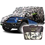 Car Cover All Weather Protection Waterproof Sun Rain UV Protection Fit for Wrangler 1987-2021 JK, JL, CJ, YJ, TJ 2 Doors