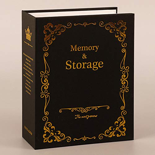 100 bolsillos, 6 pulgadas, álbum de fotos, almacenamiento de imágenes, álbum de recortes, caja de fotos, marco de álbum de fotos para niños, niños, negro