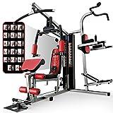Sportstech HGX200 Multiestación musculación Premium 45en1 Sirve para innumerables Posibilidades de Entrenamiento. Máquina de Pesas con Torre de tracción