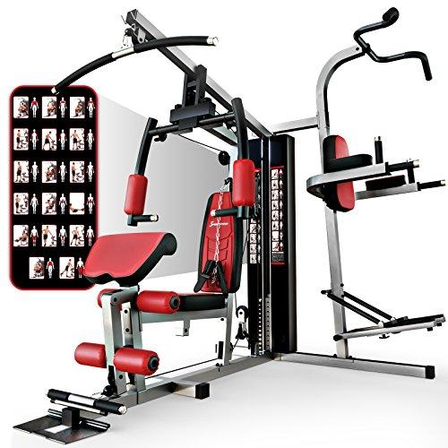 Sportstech HGX200 Multiestación musculación Premium 45en1 Sirve para innumerables Posibilidades de Entrenamiento....