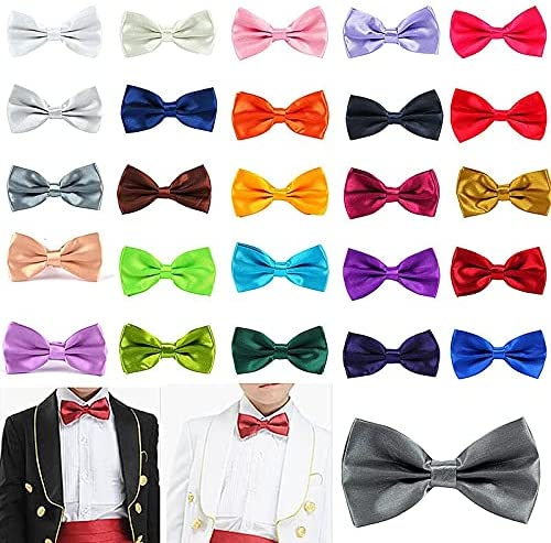 TonyJameJPStore 35 Colors SolidBowties Groom Men Kids formal Colourful Solid Cravat gravata Male Marriage Butterfly Wedding Bow ties