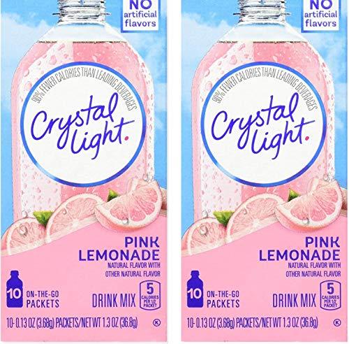Crystal Light On The Go Pink Lemonade, 10-Packet Box (Pack of 2)
