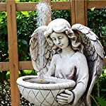 Solar Fountain Pump, Free Standing 1.4W Bird Bath Fountain Pump for Garden and Patio, Solar Panel Kit Water Pump (4 Nozzle) 13