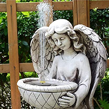Solar Fountain Pump, Free Standing 1.4W Bird Bath Fountain Pump for Garden and Patio, Solar Panel Kit Water Pump (4 Nozzle) 6