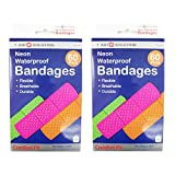 JMK 120 Neon Adhesive Waterproof Bandages Strip 3/4 Kids Children First Aid by 1st Aid Solution