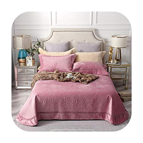 MAC-GIrl stoffige roze grijs warm zacht bed set gewatteerde velet diamant sprei bed cover set Queen size 3 stks bed spreid set kussen Shams