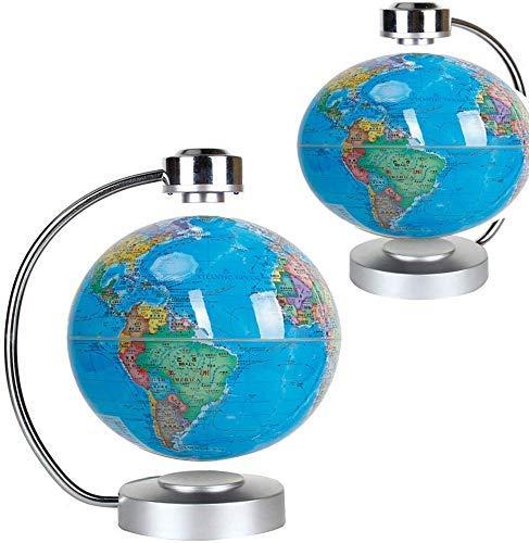 Lkk-kk Mapa del Mundo levitación magnética Globo Giratorio Tierra LED Iluminado Compatible with Office Escritorio del hogar Decoración