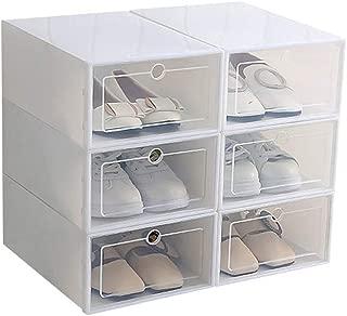 OurLeeme 6 Cajas para Zapatos Transparente Plástico, Caja