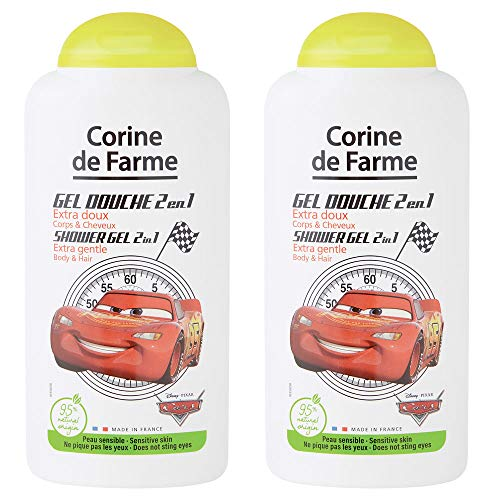 Corine de Farme | Cars | Disney | Gel douche 2en1 Extra Doux Corps & Cheveux | Lot de 2