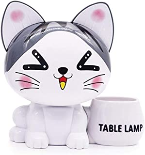 DKX Pen Holder, Cute Pet Desktop Pen Holder, Can Be Used As A Gift, Suitable for Office, Dormitory, Study (Color : White)