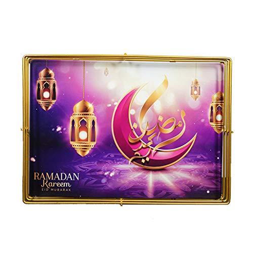 Ramadan Eid Mubarak voedsel dessert lade