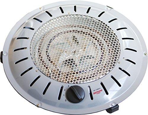 Bastilipo, BET-950, brasero de seguridad anti Incendios, 3 niveles de calor, 400/550/950W, bajo consumo, sistema patentado, 950 W, Otro, 3 Velocidades, Gris