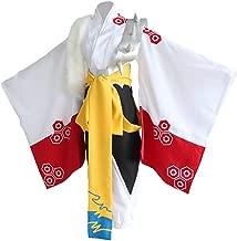 Halloween Anime Sesshomaru Cosplay Costume Japanese Traditional Fancy Kimono Dress