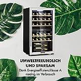 Klarstein Vinamour - Weinkühlschrank, Unterbau/Einbau, EEK A, Touch Control, freistehend, 2 Kühlzonen, Volumen: 80 Liter, 29 Flaschen, Kühltemperatur: 5-22 °C, schwarz - 2