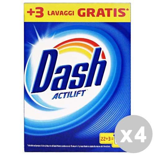 Dash Set 4 Dash wasmiddel wasmachine stof 22 + 3 klassieke wasbeurten