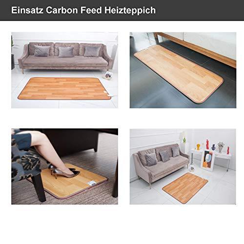 Wärmematte 105x200cm 55°C Infrarot-Heizung Mobile Fußbodenheizung elektro Bild 4*