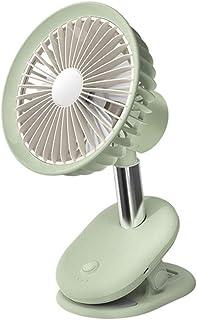 Frio-CSQ Sujetador de abanico, dos en uno Carga fan del coche de bebé al aire libre 1500mAh portátil ventilador del escritorio del ventilador del USB 3-Ajuste de velocidad mucho aire (Color : Green)