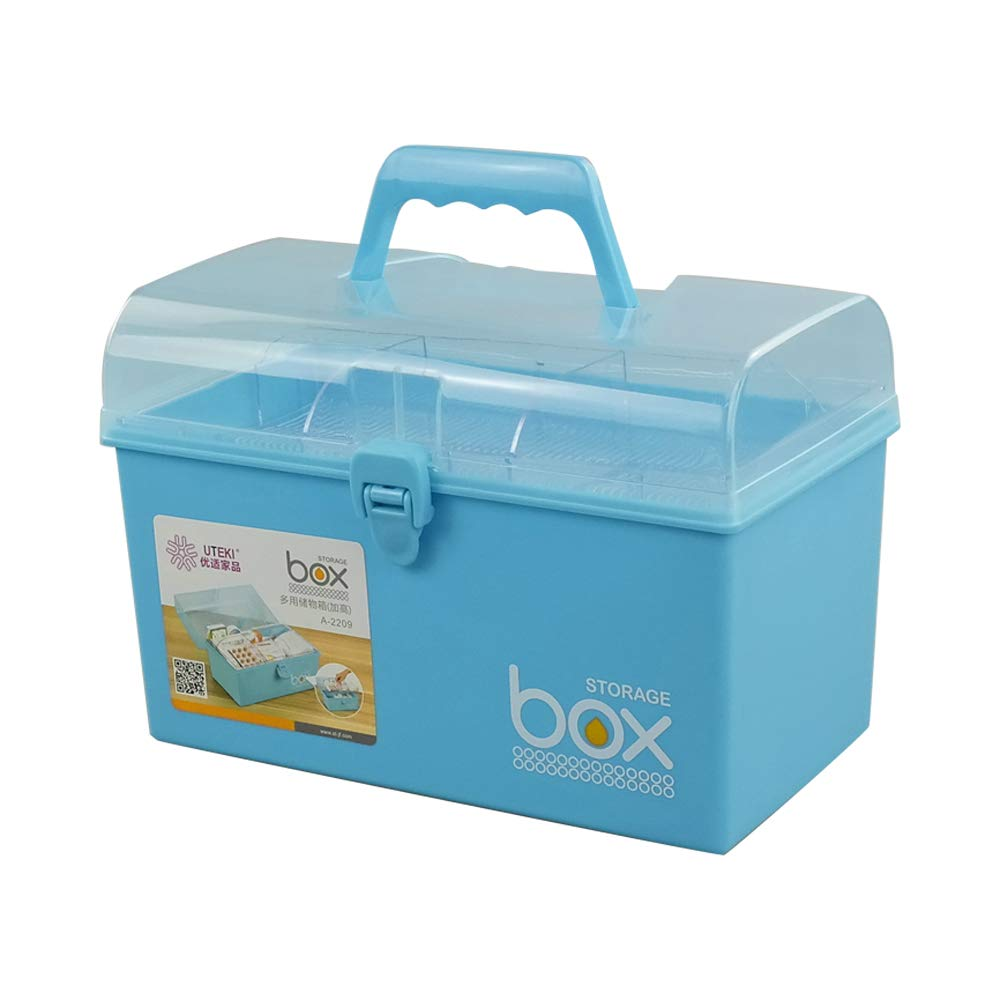 Mayish Botiquin de Primeros Auxilios Botiquin Medicamentos Botiquín Metalico Caja de Primeros Auxilios Organizadora de Plástico Pequeña Con Tapa, Color Azul, 1 Paquete: Amazon.es: Hogar