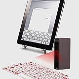 Mini tastiera virtuale Bluetooth di proiezione senza fili del topo olografico virtuale, tastiera di proiezione circolare del retro tipo UK per il computer portatile della compressa del telefono