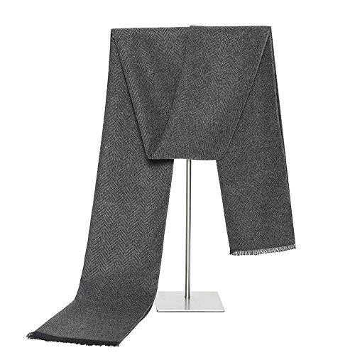 ZHQHYQHHX Herren-Schal Schal for Männer: Winter-Schal Weicher, eleganter Langer, Dicker Plüschschal (Color : Gray Como, Size : OneSize)