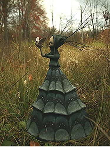KUIHG The Dark and Bizarre Art - Esculturas de bruxa assustadora - Boneca de arte, escultura de decoração de fantasia, criaturas bizarras com uma inocência excepcionalmente escura, decoração de Halloween (H)