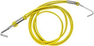 Prettyia Bike Roof Rack Strap Elastic Tie Luggage Rope Cord with Hooks Yellow