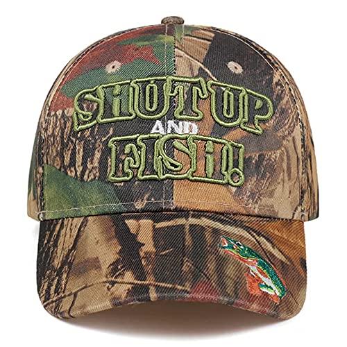 TDPYT ¡Calle Pescado!Gorra de béisbol Bordada, Sombrero Militar al Aire Libre de Moda, Gorras de Combate de Selva Salvaje, Sombreros Deportivos Regalo de cumpleaños