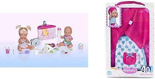 Nenuco - Pack de Infantil Hermanitos Traviesos en el Baño + Nenuco Ropita de baño